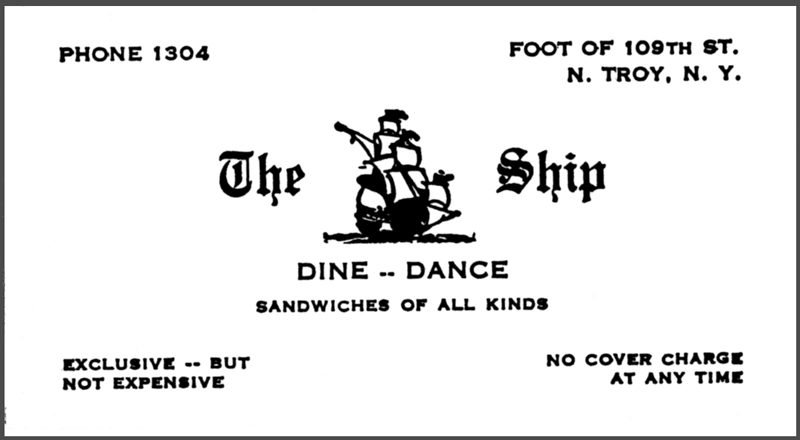 The Ship of Joy Business Card, 1934