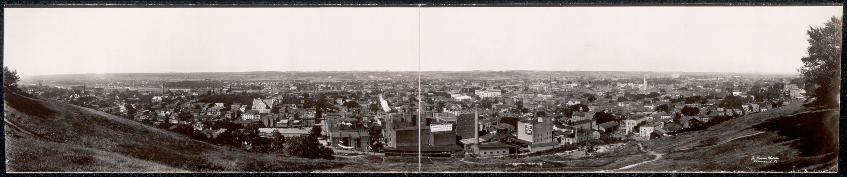 Panorama View of Troy, Looking West from Prospect Park, c1909 (click-drag to view)