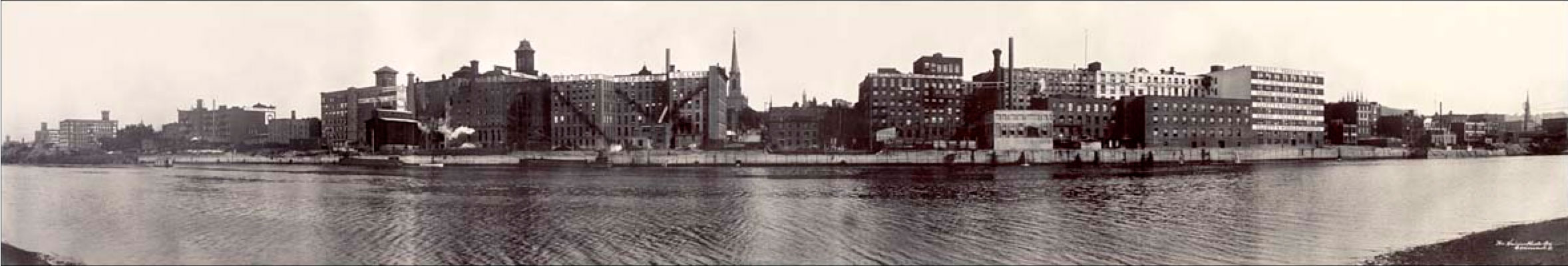 View of Troy from Magills Island, west of Hutton St., 1909